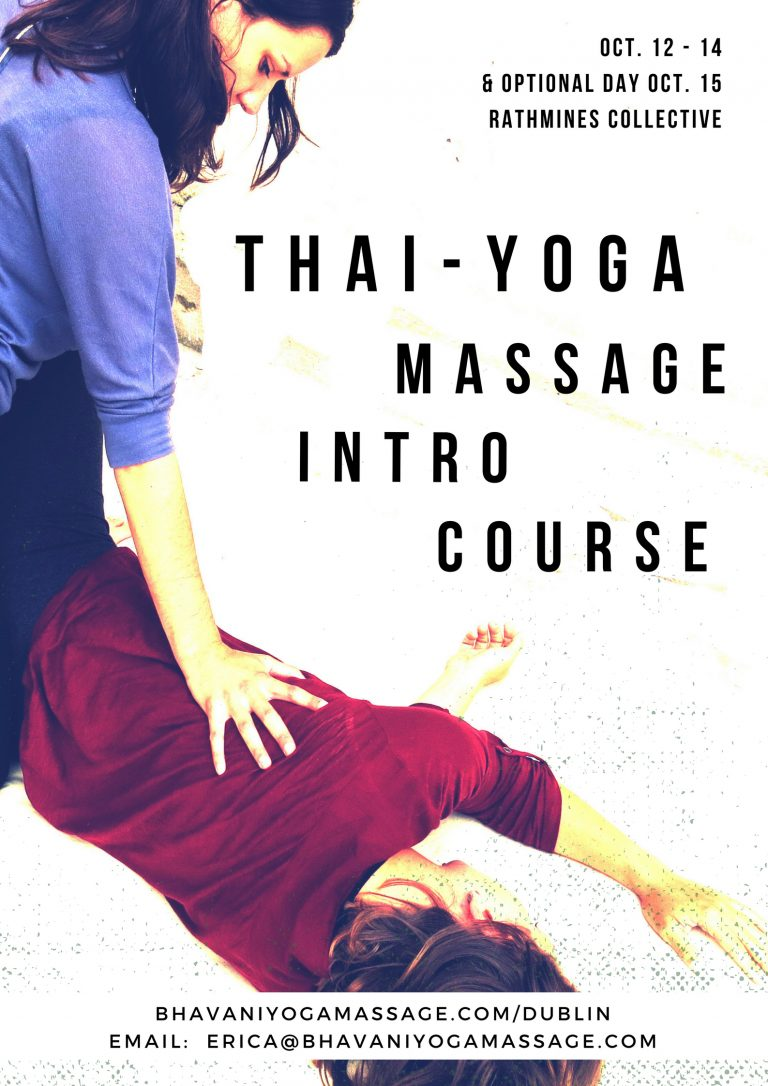 learn-thai-yoga-massage-introduction-course-dublin-ireland-poster-study-bodywork